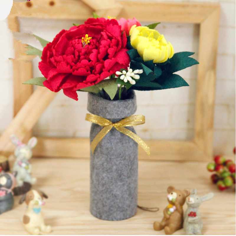 Handmade Felt Flowers Mother 39 s Day Girlfriend Gift Felt Toy Fake Flower Felt Kit DIY Craft Imitation Flower Decoration Material in DIY Package from Home amp Garden