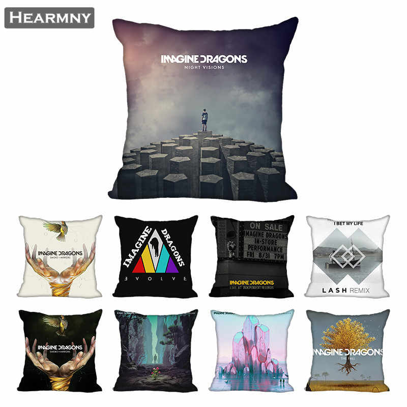 Imagine Dragons Pillow Case For Home Decorative Pillows Cover Invisible Zippered Throw PillowCases 40X40,45X45cm