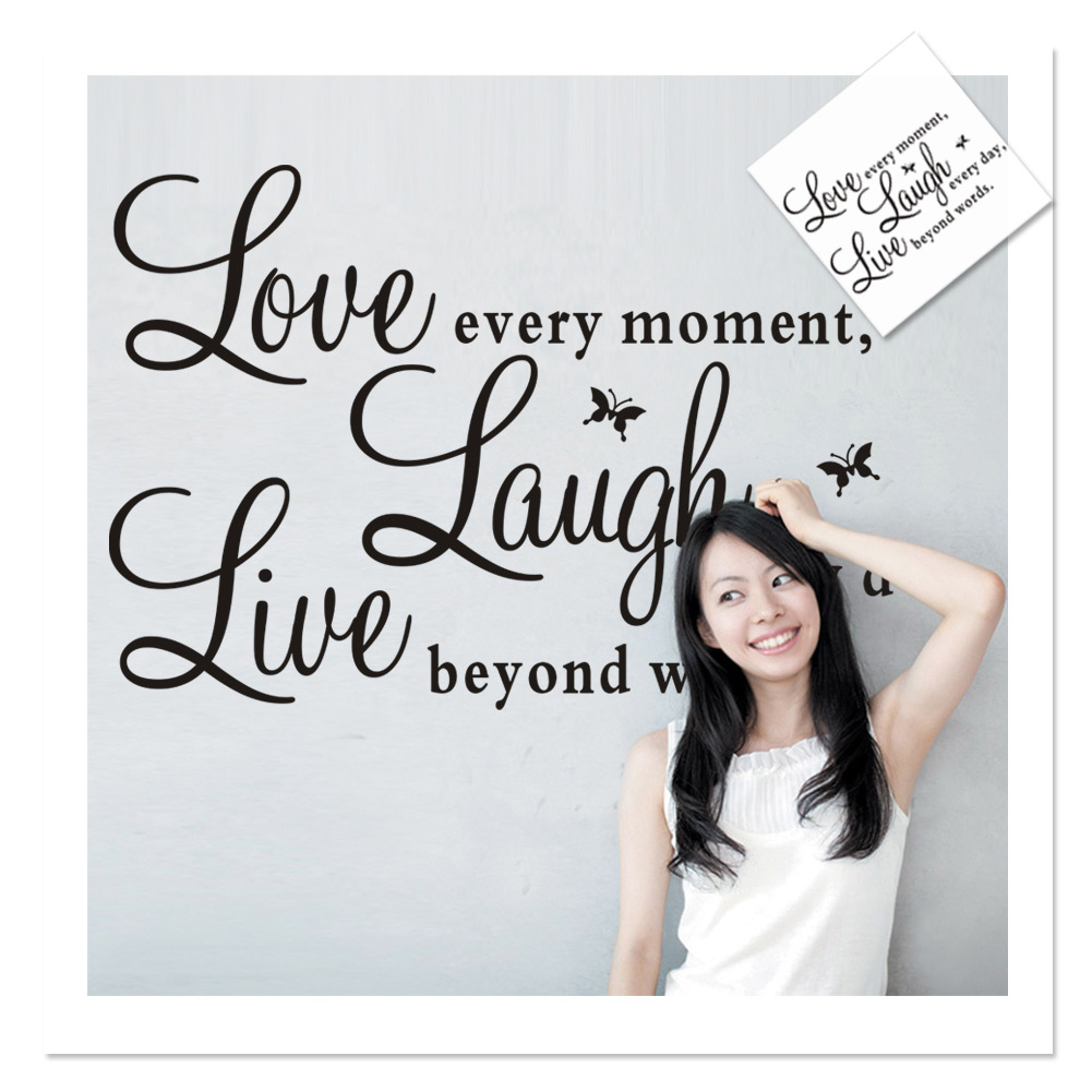 popular fashion love quotes buy cheap fashion love quotes lots new fashion live laugh love quote pvc butterfly decals art wall sticker bedroom living room office