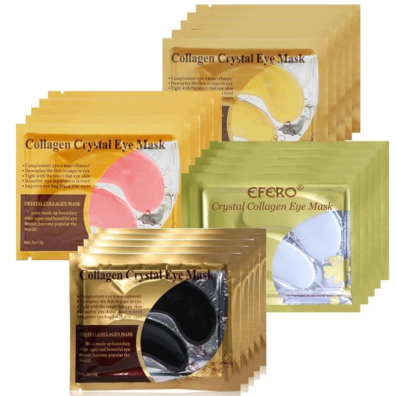 10pcs=5pair Eye Mask Crystal Collagen Gold Masks Eye Patches Dark Circles Anti Aging Moisturizing Eye Pads Gel Sleep Patches