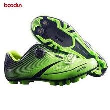 Boodun Men Women Bike Shoe Ultra light Carbon Fiber Sole + Reflective Cycling Shoe Mountain Road MTB Auto-lock Bicycle Shoe цена