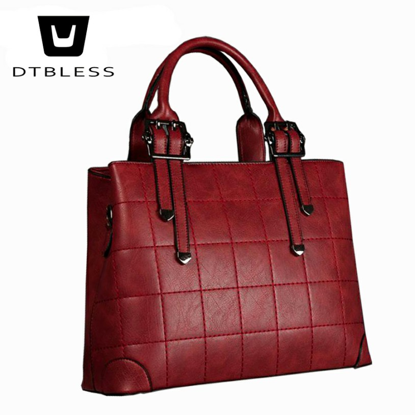 DTBLESS 2018 New Bags for Woman Elegant Classic Fashion Ladies Occident Style Handbags Solid High Capacity Color Totes C8103-1