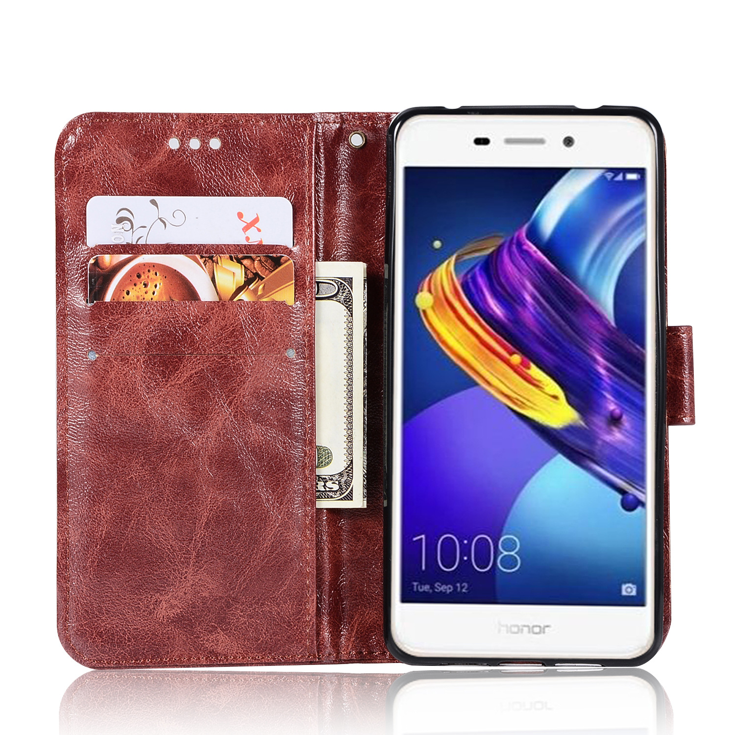 Image 5 - 20PCS Retro Business Cases Wallet For Huawei Honor 6C Pro Case Retro Flip Book Leather Cover For Huawei 6C Pro Phone Protector-in Wallet Cases from Cellphones & Telecommunications