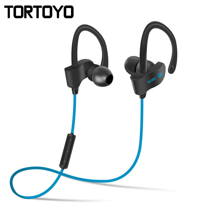Sweatproof Sports Headphone Wireless Bluetooth Earphone Running Earbud Headset Stereo Bass Ear Hook Earphone with Mic for iPhone