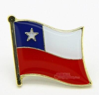 Национальный флаг металлический отворот штифт флаг штифт Чили