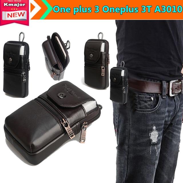 Genuine Estojo de Couro Clipe de Cinto Bolsa de Cintura Bolsa Case Capa para um mais 3 oneplus 3 t a3010 sacos de telefone casos de queda livre grátis