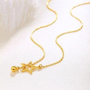 Image 4 - Btss 24 k puro ouro colar real au 999 corrente de ouro sólido bonito luxo na moda clássico festa jóias finas venda quente novo 2020