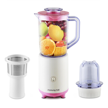 Фотография JYL-C50T Home Cooking Machine Multifunction Double Cup Juicer Dry Grinding Can Make Food Supplement Mixer