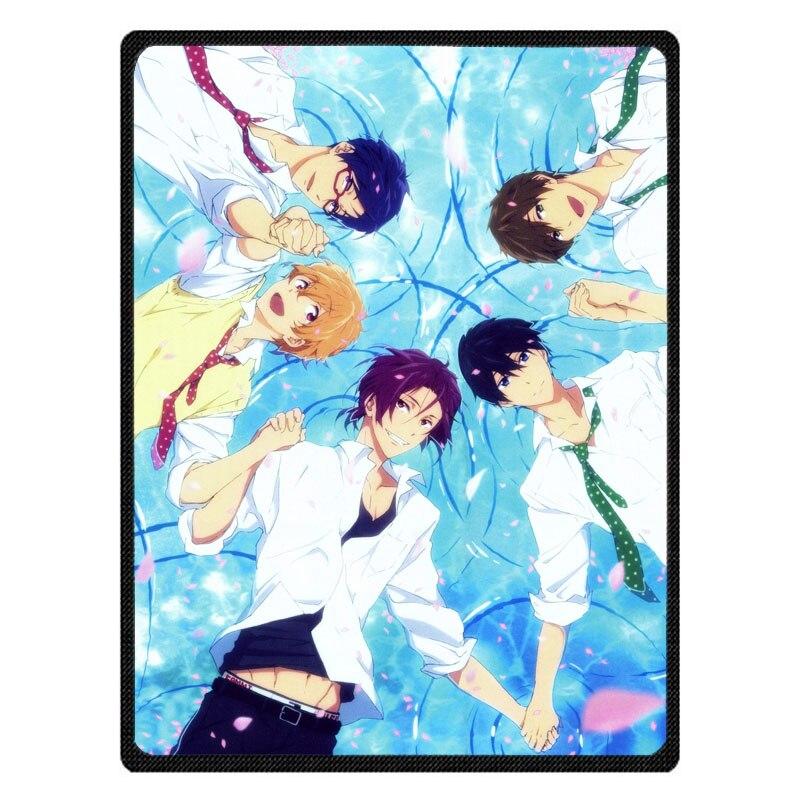 Adult Autumn Winter Summer Spring Warm Blanket Super Soft Coral Fleece Bed Sofa Iwatobi Swim Club Pattern Blanket