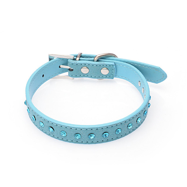 PipiFren Small Dogs Collars Rhinestone Blue For Pets Collar Accessories Cat Chihuahua Puppy Supplies Mascotas Collier chien