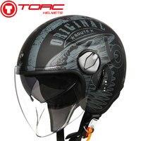 Torc T595 Jet Helm Moto Rcycle Open Helm Retro Gepersonaliseerde Moto Rbike Dubbele Vizier Helm Capacete Moto Helm Dot