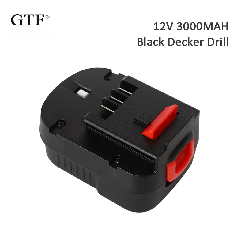 Bateria recarregável da ferramenta de 3000mah 12 v forblack & decker a12 a12ex fsb12 fsb12 fs120b a1712 hp12k hp12 ni-mh bateria da broca da substituição