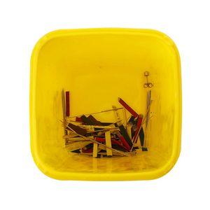 Image 5 - 1PC קעקוע רפואי קיבולת פלסטיק חד מיכל Biohazard מחט Disposale פסולת תיבת אחסון קעקוע ציוד אבזרים