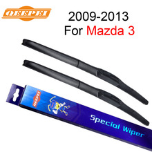 QEEPEI Wiper Blade For Mazda 3 2009-2013 24″+19″ High Quality Iso9000 Natural Rubber Clean Front Windshield