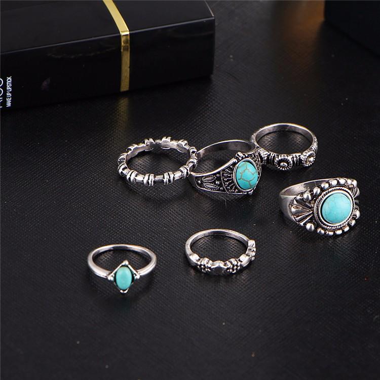 HTB1RD79OFXXXXaEXFXXq6xXFXXX4 6-Pieces Boho Ethnic Vintage Turquoise/Opal Knuckle Ring Set For Women - 2 Styles