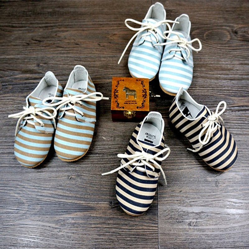 New High quality Genuine Leather stripe baby shoes handmade Baby Moccasins First Walker Bebe newborn Soft bottom shoes 2016 new fashion baby shoes baby first walker bow lace baby girl princess shoes non slip newborn shoes
