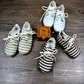 Nueva Alta calidad de la raya de Cuero Genuino zapatos de bebé hechos a mano Del Bebé Mocasines Primeros Caminante Bebe recién nacido zapatos inferiores Suaves