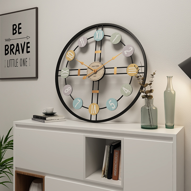 European/Silent/Metal Wall Clock Modern Design Large Clocks On The Wall For Living Room Home Decor Wall Watches Vintage Iron Art