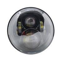 Black 7 LED Motorcycle for Honda H4 HeadLight 7 inch Led headlamp For Hornet 250 600 900 VTEC VTR250 Honda CB400 CB500 CB1300