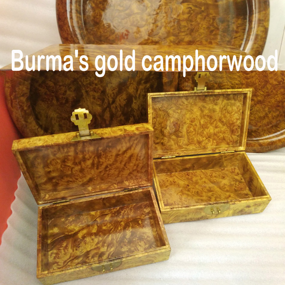 a pair Burmau0027s gold c&horwood jewelry storage box solid wood decor craft valuable investment collection artwork gift-in Bottles Jars u0026 Boxes from Home ... & a pair Burmau0027s gold camphorwood jewelry storage box solid wood decor ...