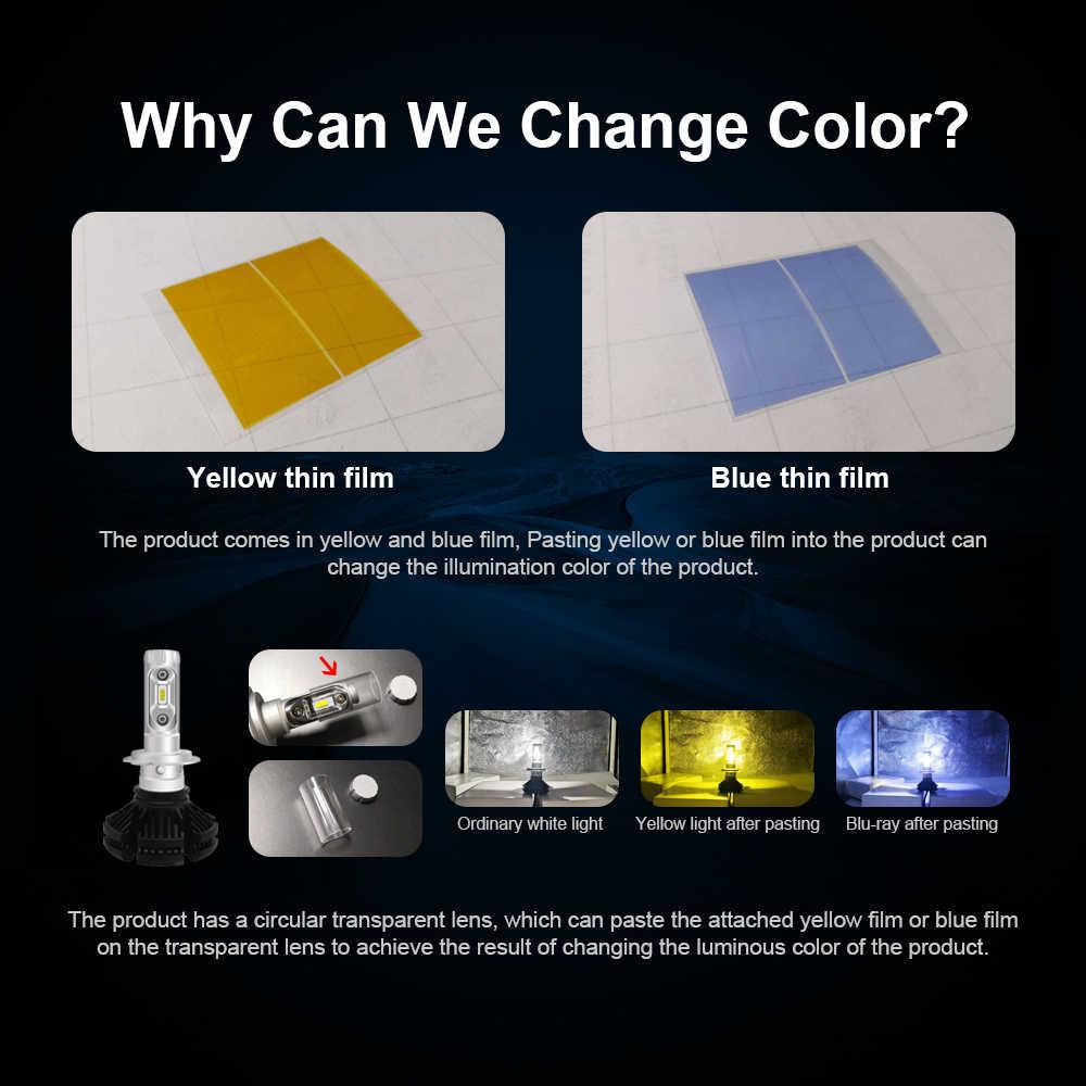 roadsun LED H7 H4 Car Headlight Bulb H11 9005 9006 HB3 LED lights Kit 50W 3000K 6000K 8000K Luxeon Lumiled ZES Chip Auto Lamp