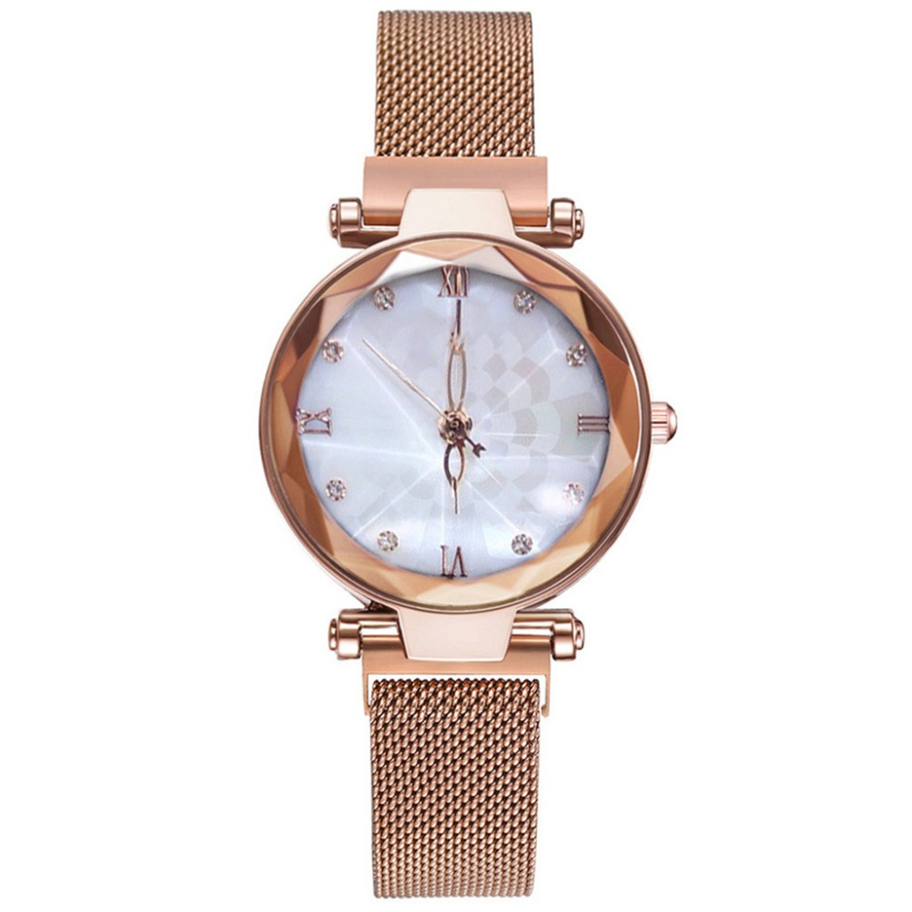 High Quality Women Watches Irregular Dial Fashion Ladies Clock Luxury Quartz Wristwatch Magnetic Buckle Strap Relogio Feminio@50