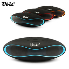 Ubit New X6U Mini Portable Speaker Wireless Bluetooth Speakers FM with Strong Bass Portable Audio Player Support TF Card