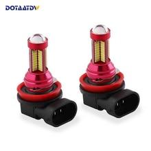 Pcs 1200 Lumens 4014 Chip H11 2 H8 9005 HB3 9006 HB4Led Farol Do Carro Fog Lâmpadas DRL de Circulação Diurna luz de Condução Da Lâmpada do Bulbo