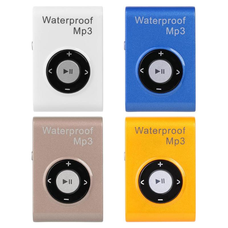 Mini Wasserdicht Schwimmen 16 GB <font><b>MP3</b></font> Sport Läuft Reiten <font><b>MP3</b></font> Sereo Walkman Musik <font><b>MP3</b></font> <font><b>Player</b></font> Mit FM Radio hallo-fi Clip image