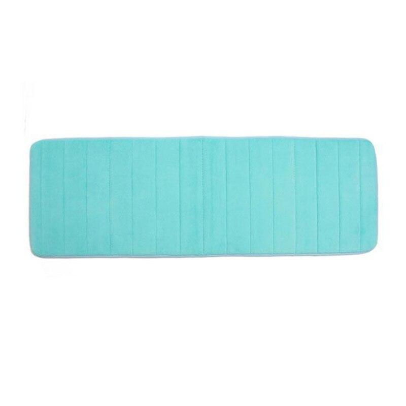 hgho 120x40cm absorbent nonslip memory foam kitchen bedroom door floor mat rug carpet blue in. Black Bedroom Furniture Sets. Home Design Ideas
