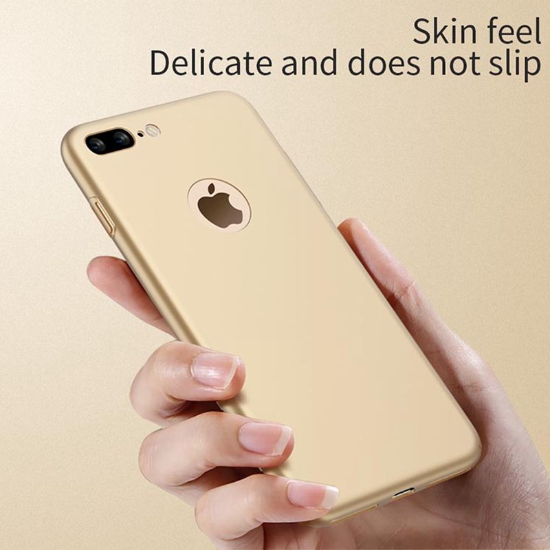 separation shoes 00199 f67b2 for iphone8 Case for iphone 8 plus Gold Thin Armor Logo Hole Luxury ...