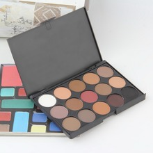 2016 New fashion 15 Earth Color Matte Pigment Eyeshadow Palette Cosmetic Makeup Eye Shadow for women Top Quality