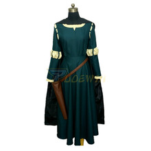 цена на Women Princess Merida Adult Costume Merida Dress Cosplay Costume
