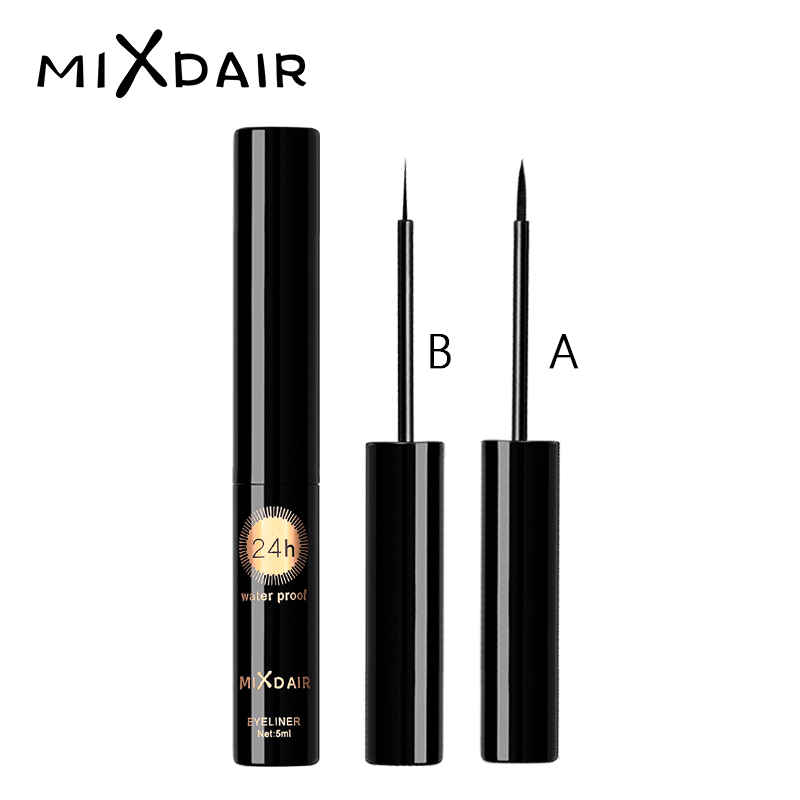 MIXDAIR Liquid Eyeliner Waterproof Long Lasting Smooth Easy to Wear Eye Liner Maquiagem Profissional Completa eyeliner stamp