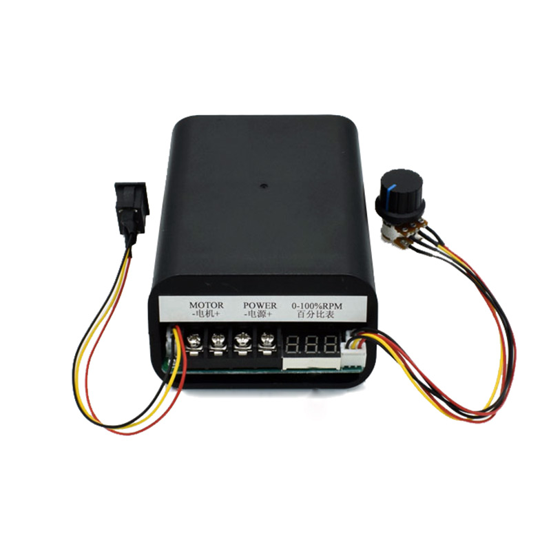 PWM dc motor speed controller max 60A CW CCW digital display 0~100% adjustable drive module Input 10V~55V dc10 55v max 60a pwm motor speed controller 0 100
