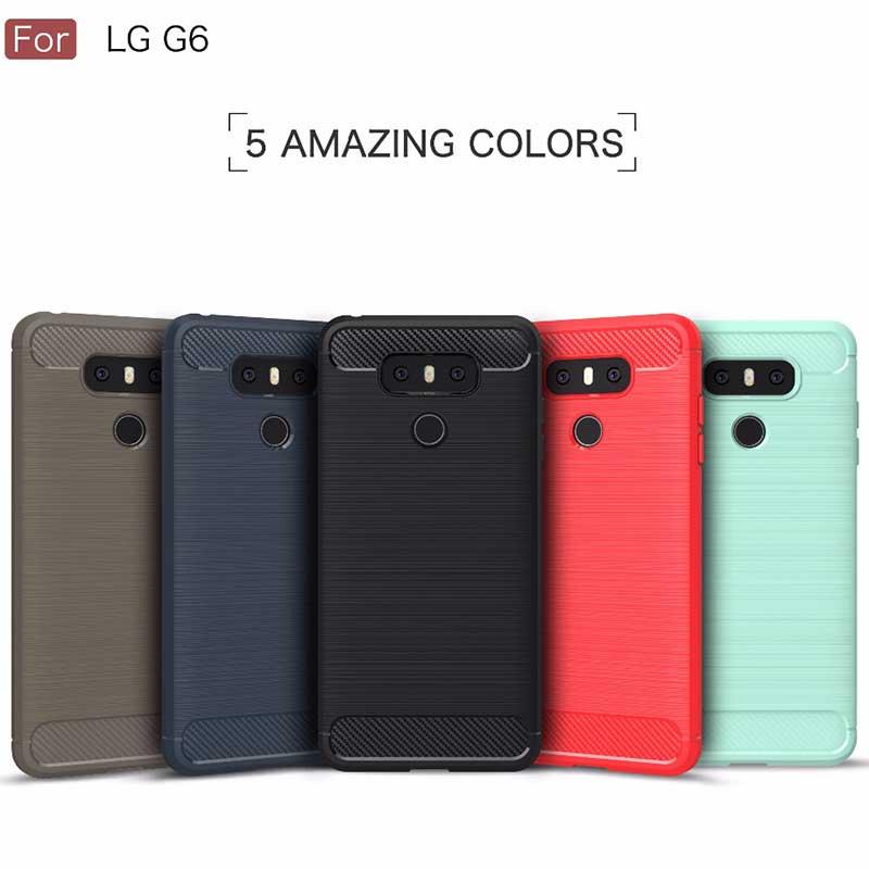 Keysion Telefon Fall Für LG G6 Kohlefaser Brushed Drahtzieh silikon ...