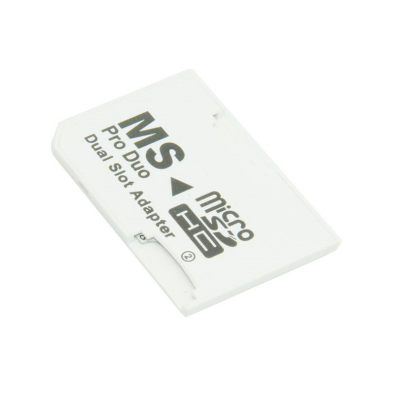 Dual Slot MicroSD TF to MS Memory Stick Pro Duo Adapter Sony PSP & Mobile Phone карта памяти sony ms pro duo 32gb