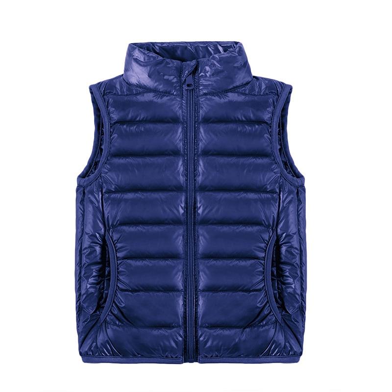 2021 New Children Vests Winter Ultra Light White Duck Down Vest Coats Boys Girls Sleeveless Jacket Kids Windproof Warm Waistcoat 1