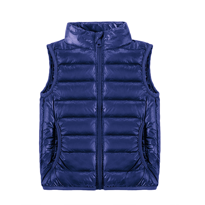 2019 New Children Vests Winter Ultra Light White Duck Down Vest Coats Boys Girls Sleeveless Jacket Kids Windproof Warm Waistcoat-in Vests from Mother & Kids