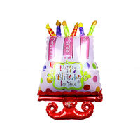 20pcs Happy Birthday Decorations helium Ballons air Balls inflatable Foil Balloons Birthday balloons Cake Party balloons