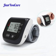 JianYouCare Medical Digital LCD Wrist Automatic Blood Pressure Monitor sphygmomanometer Heart Beat Rate Pulse Mete Tonometer
