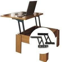 2 Pcs Tavolo cerniere Lift Up Top tavolino meccanismo di Ferramenteria e attrezzi Mobili Cerniere per 30 kg Piano di Sollevamento e pieghevole cabinet Cerniera