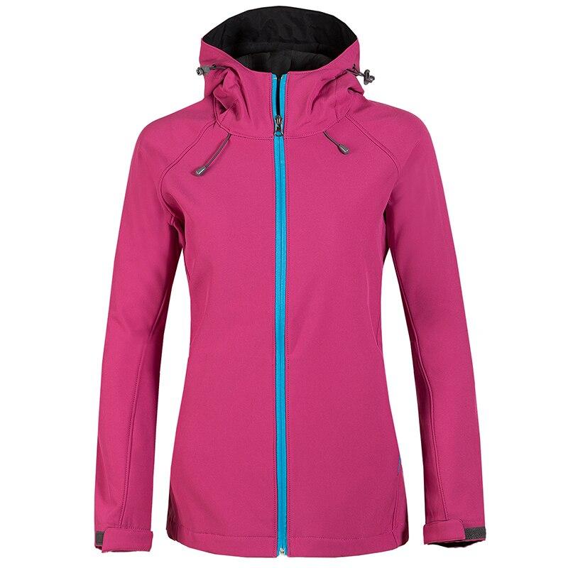 Femmes randonnée à capuche respirant polaire intérieur sport manteau Camping Trekking escalade extérieur Softshell femme veste Windstopper