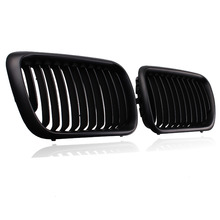 1 Pair Car Radiator Grills Matte Black Front Kidney Grille For BMW E36 3 Series 1997-1999 318i/ 320i/ 323i/ 325i/ 328i/ M3