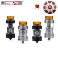 무료 선물 Digiflavor 파라오 미니 RTA 2 미리리터/5 미리리터 버전 최고 충전 전자 담배 분무기 업데이트 파라오 RTA Vape