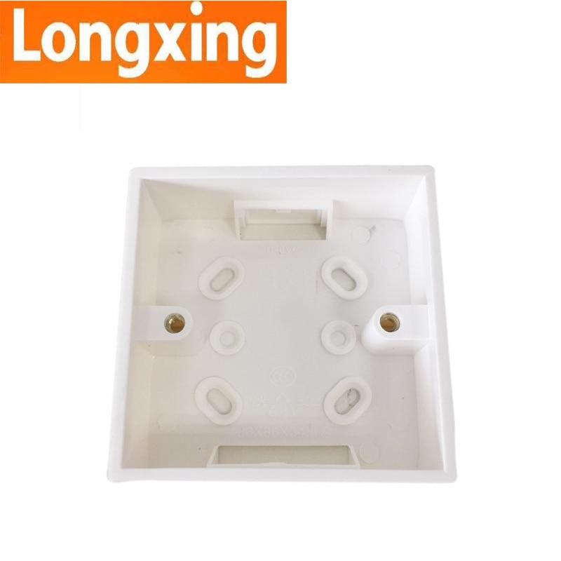 Wholesale 86mm 86mm Dark Box 3 Types Standard PVC Wall Switch Box for Standard Sockets Apply