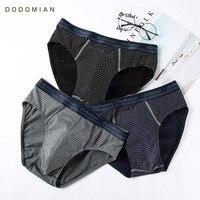 Hommes Slips Culottes des Hommes de Coton Sous-Vêtements Mémoires Confortable Rayé Bref Culottes pour Hommes Sexy Slip Shorts 4pcs \ lot