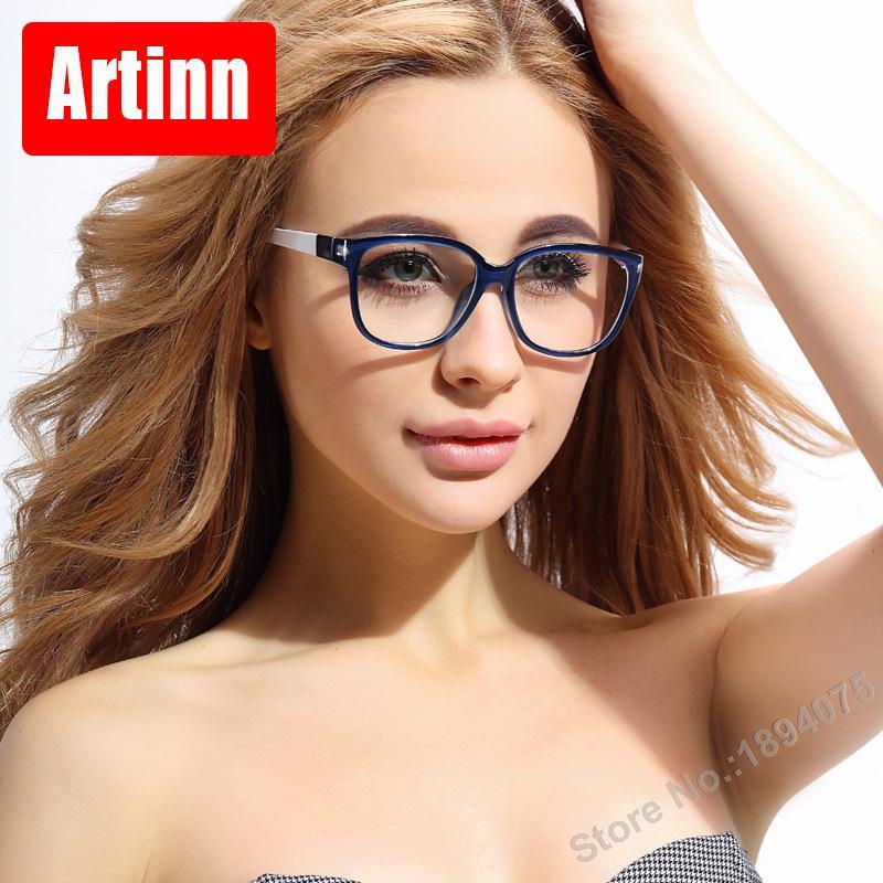 26af77525 وصفة النظارات إطارات الرجال nerd العين ارتداء النظارات النساء نظارات  الكمبيوتر الكمبيوتر البصرية خمر spectacl برايتفول M5856
