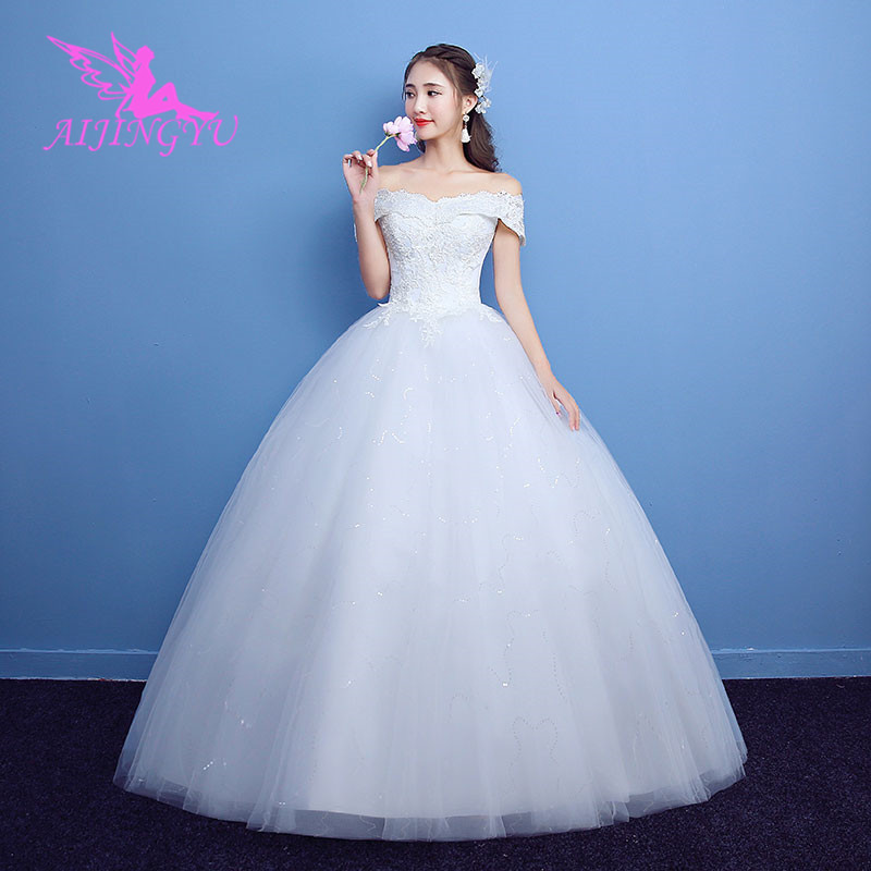 AIJINGYU Dresses Wedding Short Bridal Dress Sweet Ball Gown WK130