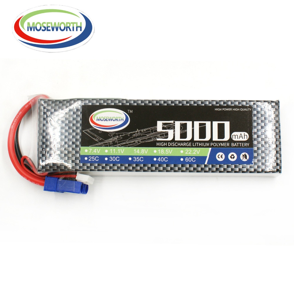 MOSEWORTH 2S 7.4V 5000mah 60C RC Airplane LiPo Battery for Helicopter Quadrotor Car Drone AKKU tcbworth rc drone lipo battery 7 4v 5000mah 35c 2s for rc airplane quadrotor helicopter akku car truck li ion battery